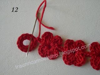 Between an embroidery ... and more ...: Bracelets flowers (tutorial crocheted)