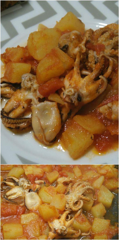 Polpo con patate e pomodori, per un gustoso secondo di pesce! #polpo #patate #pomodori #pesce #ricettegustose