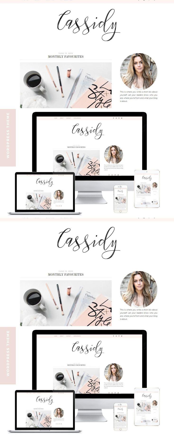 Wordpress Blog Theme Cassidy Blog themes wordpress
