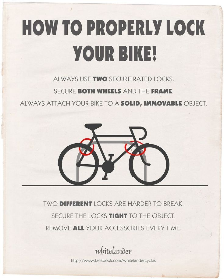 How To Properly Lock Your Bike By Whitelander Cycles Cruiser