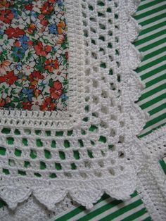 tutorial on quilted squares and crochet