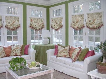Wonderful And Functional Sunroom Window Treatments Design Ideas