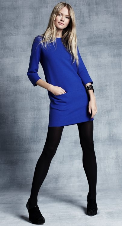 I am obsessed with cobalt blue this season (along with orange red).  So excited about this dress!