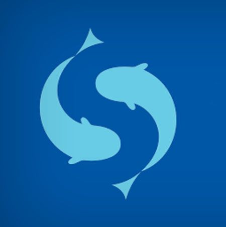 Salmovac, a fish vaccination company, used two fishes swimming around each other to create an S in the negative space.