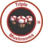 Triple Boost mushroom from the official artwork set for #MarioKart64 on the #N64. #MarioKart #Mario #Nintendo64. Visit for more info http://www.superluigibros.com/mario-kart-64