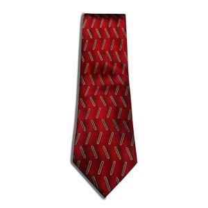 Heritage Silk Printed Tie  Red