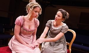 Niamh Walsh (Rosamond) and Georgina Strawson (Dorothea) in Dorothea's Story from in The Middlemarch Trilogy, adapted from George Eliot's novel, at the Orange Tree Theatre in London.