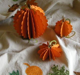 Punch art pumpkins