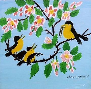 Maud Lewis' birds