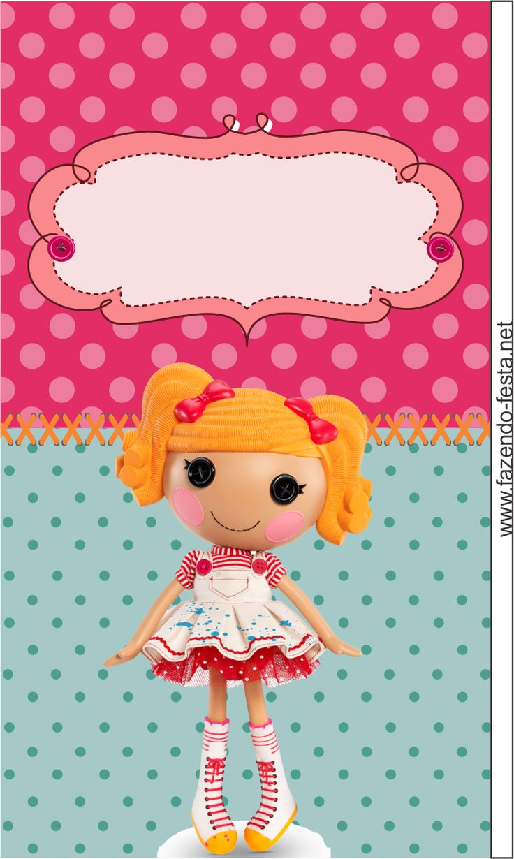 Lalaloopsy Free Printable Kit: cards, toppers, bookmarks, cupcake boxes, & more.