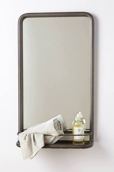 Fantastic  Bathroom Mirrors Gt Frameless Contemporary Bathroom Mirror With Shelf