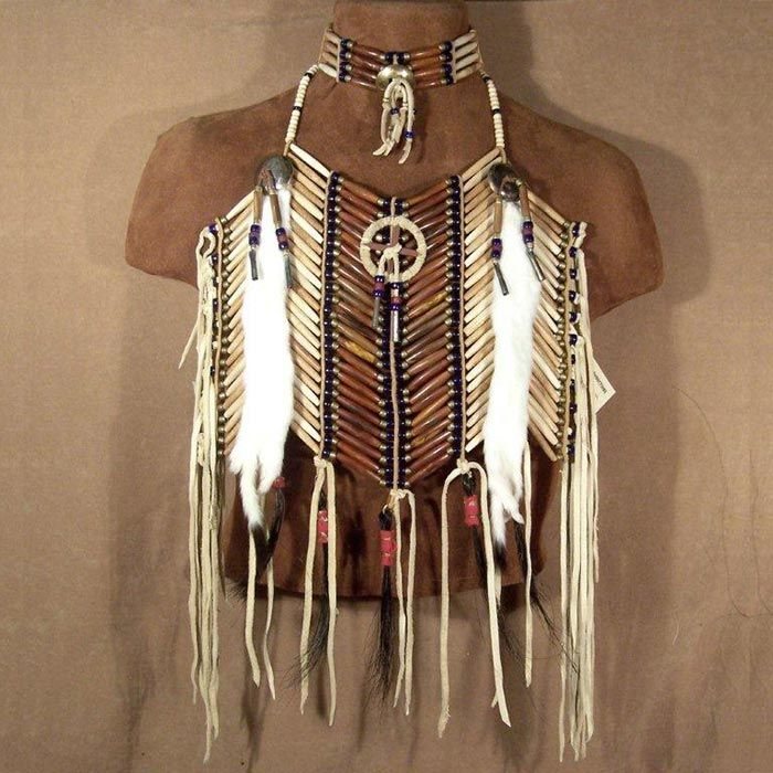 Native American Medicine Wheel Short Breastplate  Matching Choker