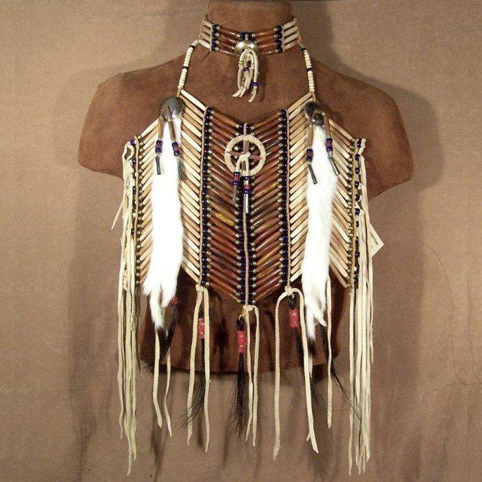 Native American Medicine Wheel Short Breastplate & Matching Choker