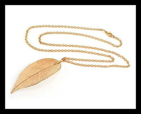 CABOUCHON JEWELLERY - Real Leaf Pendants