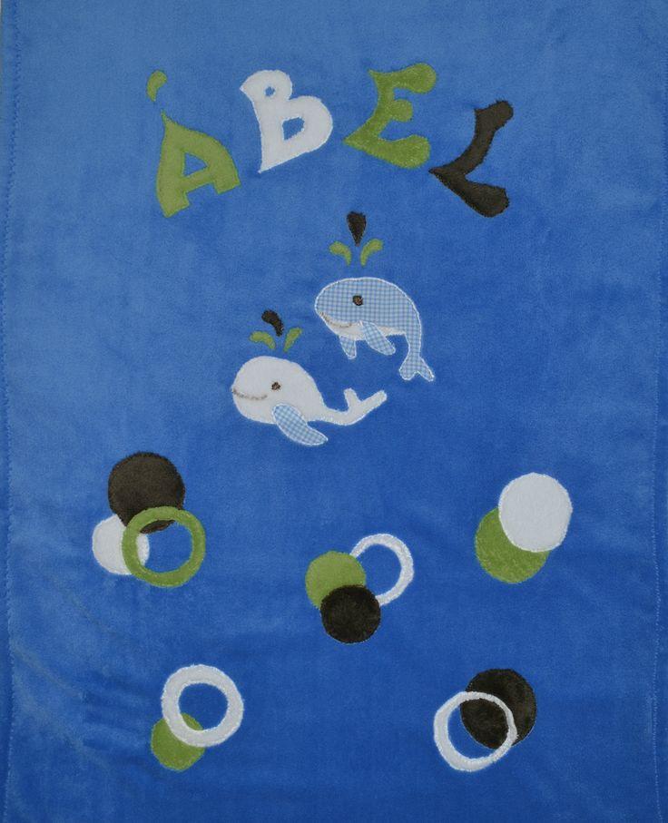 Wellsoft babatakaró -bálnás buborékos