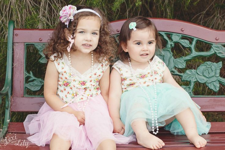 My Little Vintage Dress ♥ Little Girls Dresses. Lexi and Lilys 1st Photo Shoot ♥♥