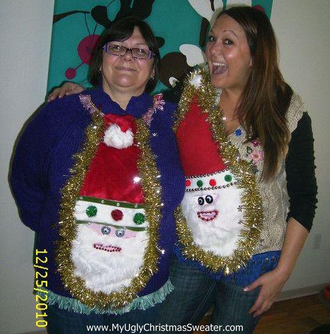 My Ugly Christmas Sweater Wacky Couple Matching Santa