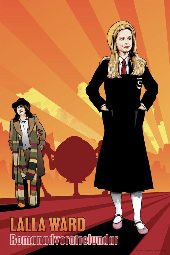 Doctor Who  Lalla Ward & Tom Baker  18 x 12 Digital by DadManCult, $8.99