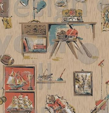 Sports Retro Custom Vintage Wall Paper A Childrens Vintage Wallpaper
