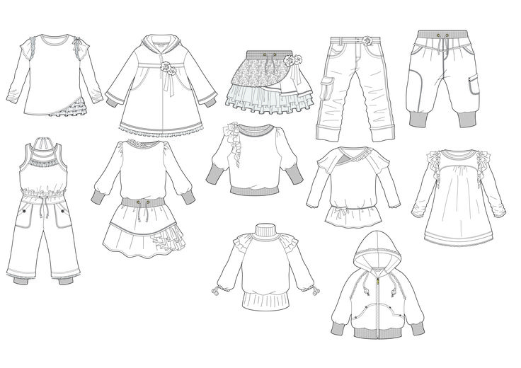 sketched clothing