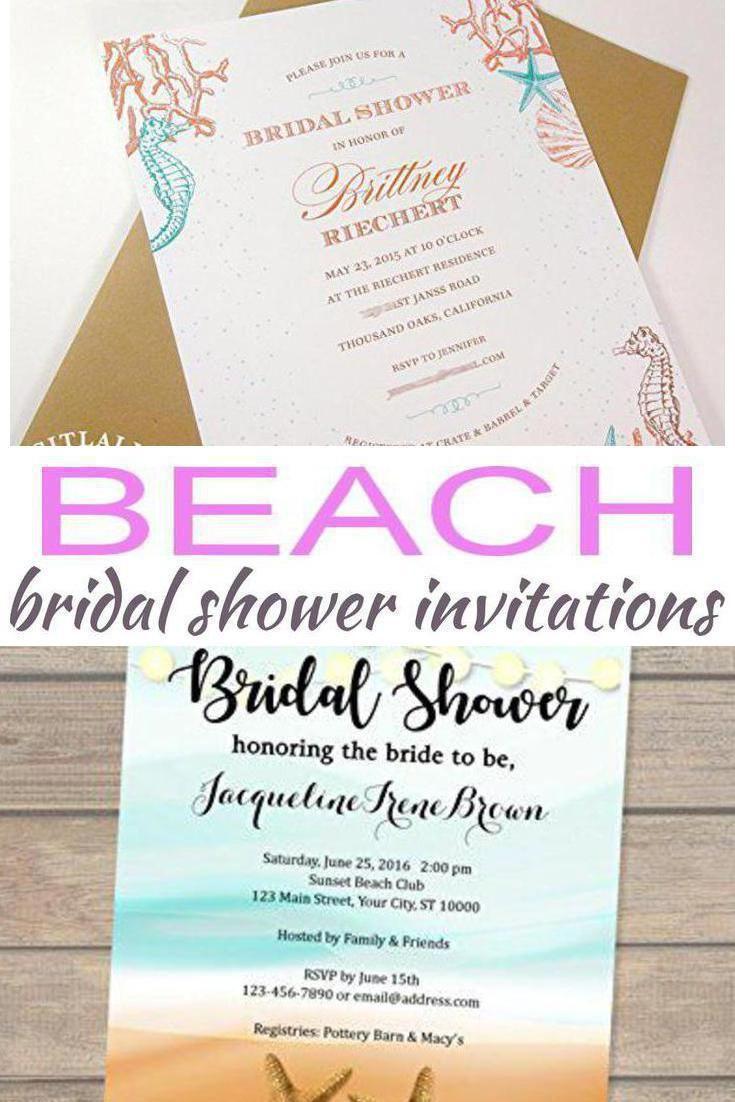 Beach Bridal Shower Invitations   Bridal Shower   Pinterest   Beach ...