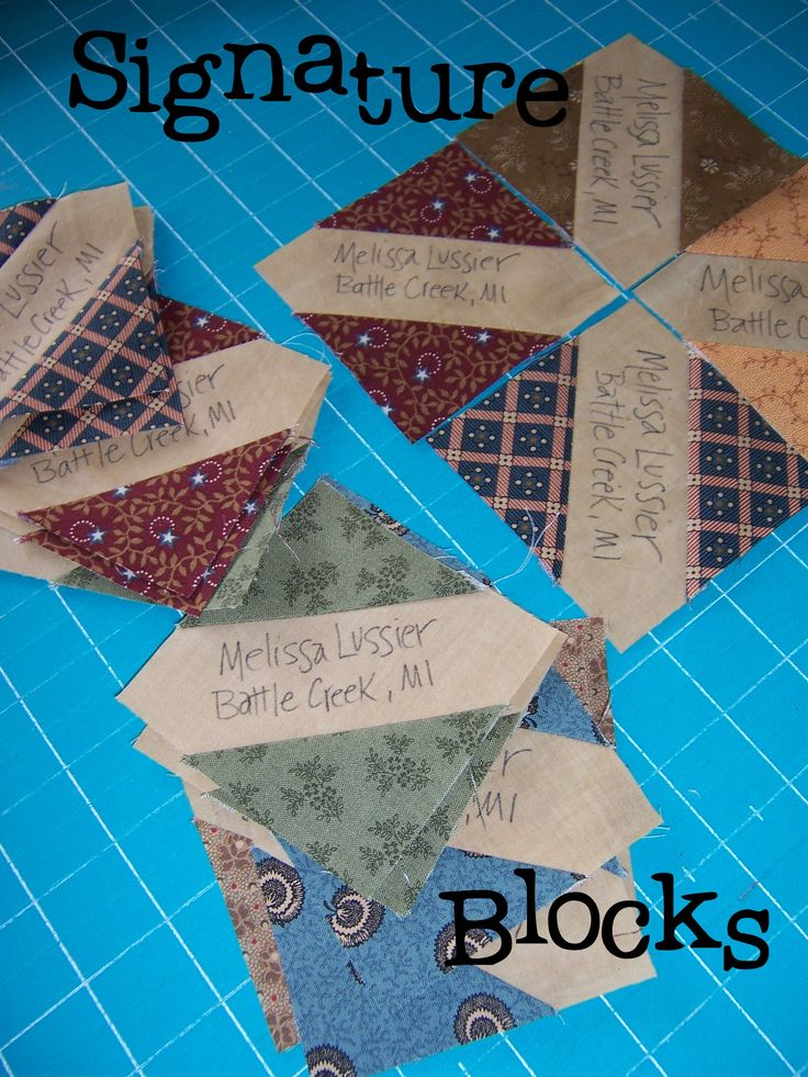 wonderful idea for a signature quilt