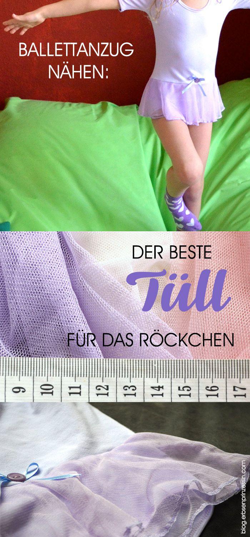Stoffvergleich: Welcher Tüll eignet sich am besten für das Battell-Röckchen? #Ballettanzug für Kinder #nähen, Schnittmuster, ebook, Warenkunde #Ballettkleid #Tüll