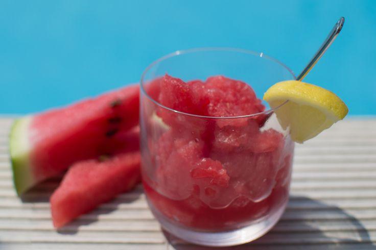 Granita med vandmelon