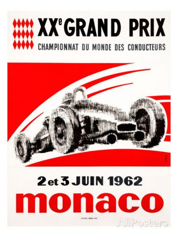 Monaco Grand Prix, 1962 Giclee Print - year the house was built