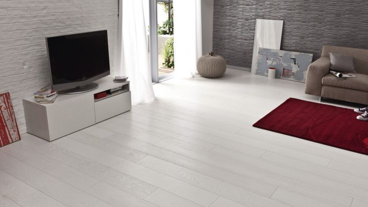 Parquet contrecoll ch ne blanc absolu woodloft saint maclou renovation appartement for Plancher pin blanc