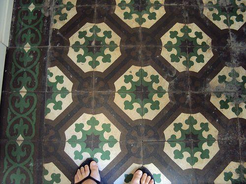 Tiled floor, Santiago, Chile