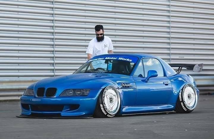 Bmw Z3 M Roadster Blue Slammed With Images Bmw Z3 Cool Cars Bmw