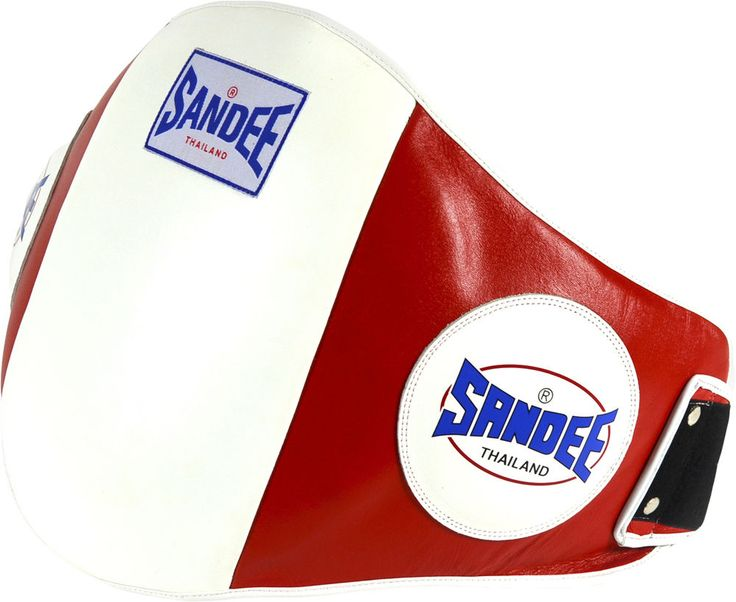 Sandee Velcro Blue /& White Leather Belly Boxing Muay-Thai Training Pad