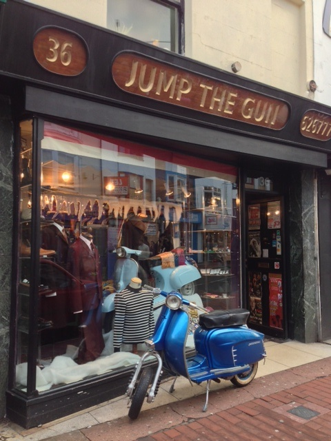 Jump the Gun in Gardner Street - selling mod clothes for 20 years.