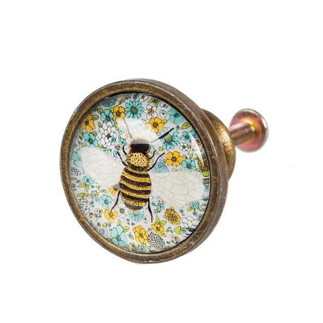 Summer Floral Bee Drawer Knob   Door, Drawer Knobs & Hooks   Sass & Belle