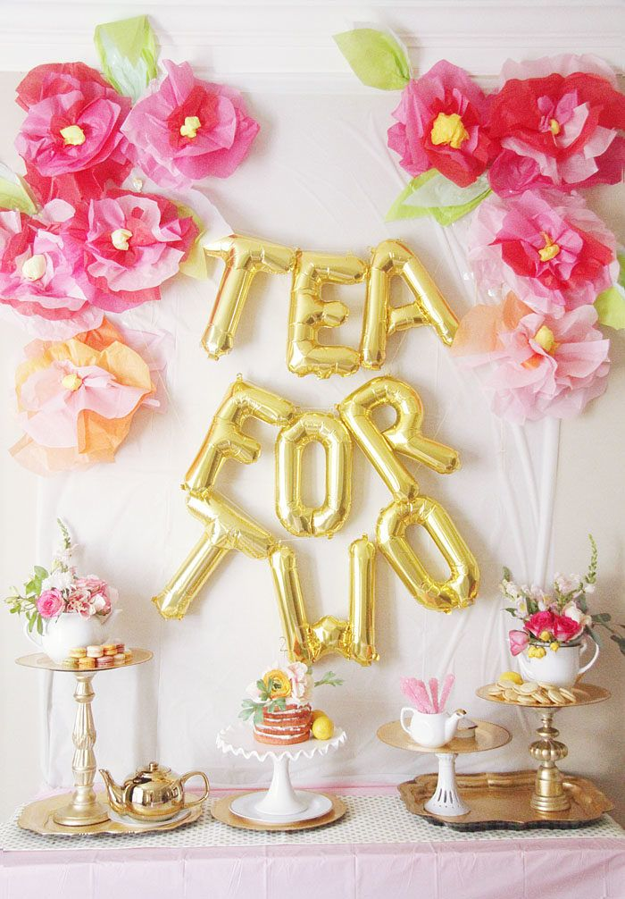 Tea for Two, Party Idea, Toddler Birthday Party, Tea Party