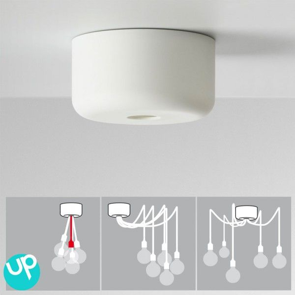 Luminaire avec plafonnier d centr 4 solutions rosace luminaires et suspe - Suspension ampoule muuto ...