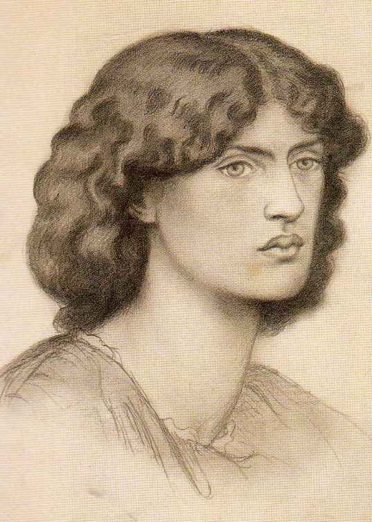 Jane Morris sketch by Rossetti