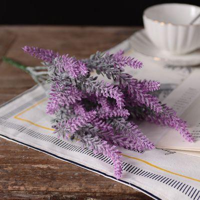 Искусственные Лаванды искусственные Цветы Букет Спрей Stems Красивый Дизайн 36 см Главная Свадьба Свадебная Party hotel Декор флора