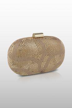 Metal studded clutch by #Benzer #Benzerworld #Clutch #Bag #BoxClutch #BridalAccessories