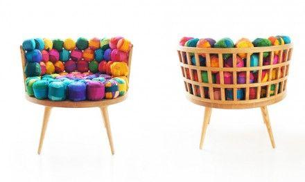 Meb Rure tasarımı Recycled Silk koltuk
