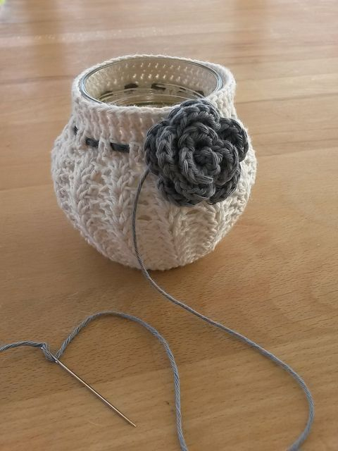 Ravelry: Project Gallery for Crochet Votive Cover pattern by NW Nature Nut