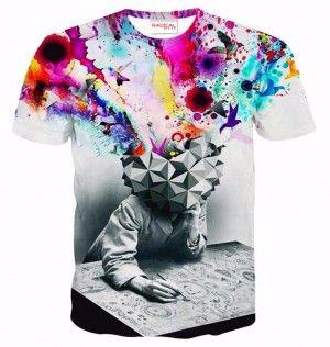GŁOWA WYBUCHA Koszulka Tshirt Full Print