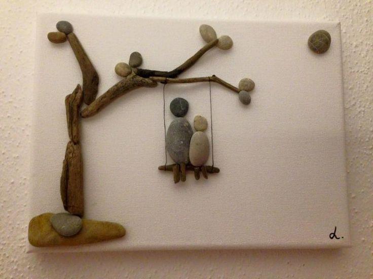 Steinbild auf leinwand schaukeln produkte - Steinbilder auf leinwand ...