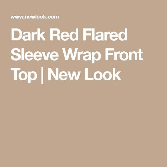 Dark Red Flared Sleeve Wrap Front Top | New Look