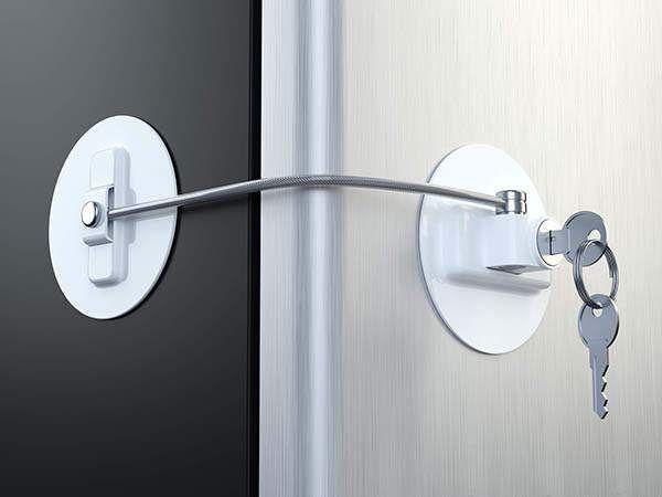 Muin Refrigerator Door Lock With 2 Keys Gadgetsin Refrigerator Lock Door Locks Fridge Lock