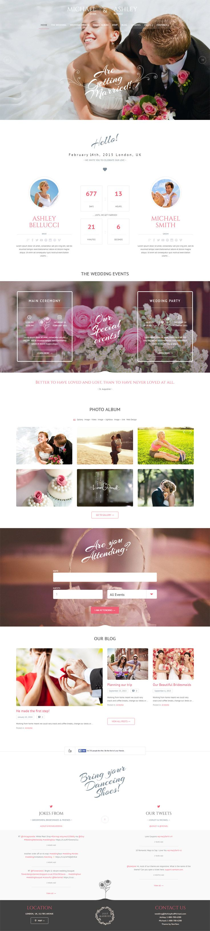 10 + Best Premium WordPress Wedding Themes