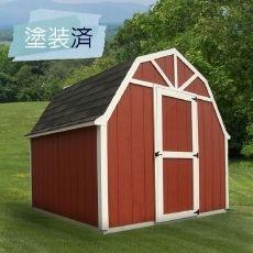 【物置小屋キット】たっぷり収納できる組み立て式の可愛いデザイン倉庫 スモールハウス:ファールン|エクステリア用品通販のジューシーガーデン