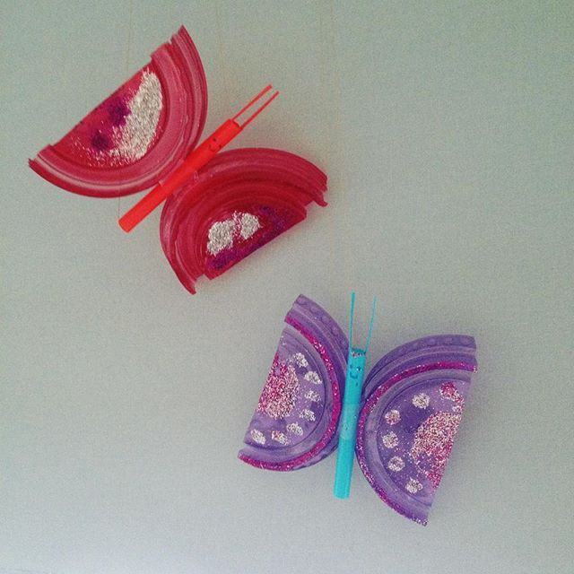 We created some butterflies #diy #familytime #butterfly