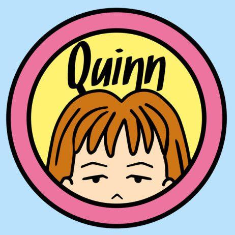 #Daria: Quinn on the title instead of Daria t-shirt.